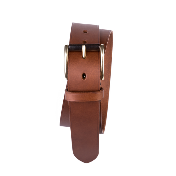 Tolbod Buckle, Fullgrain Belt, Light Brown