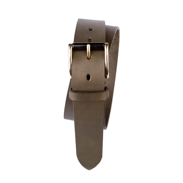 Tolbod Buckle, Fullgrain Belt, Green