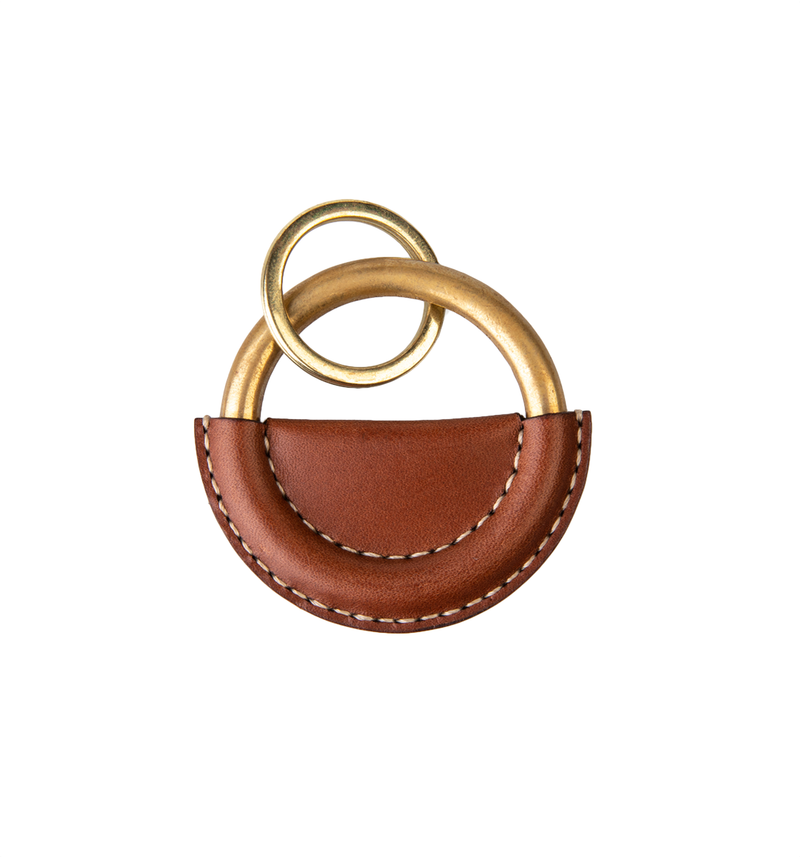 Small Key Ring, Light Brown