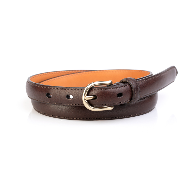 Layered Women's Belt, Dark Brown