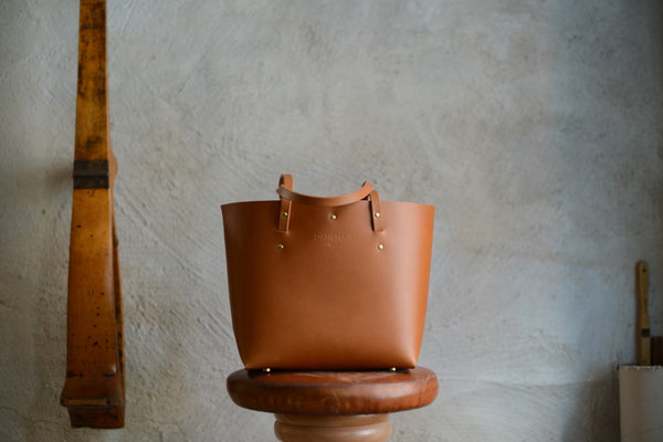 Small Braid Tote Bag, Cognac