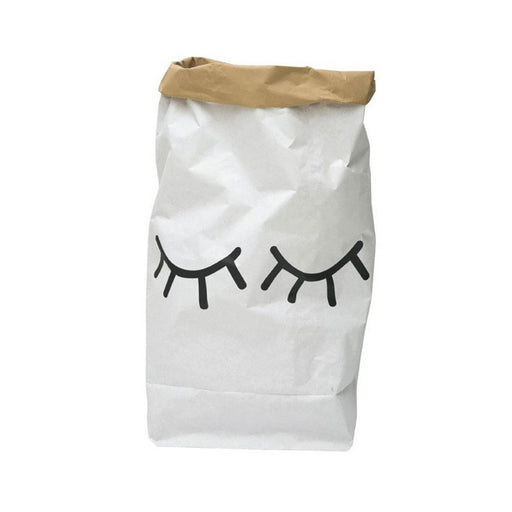 Closed Eyes Paper Bag