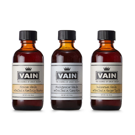Trio of Exotic Vanilla Extracts