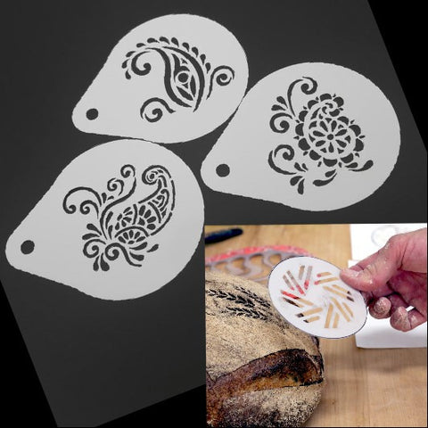 ART TOPPERS 3pc Bread Stencil Set