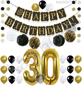 30th BIRTHDAY DECORATIONS PARTY KIT