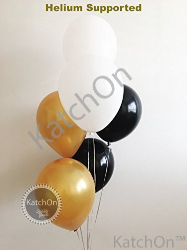 80th Birthday Party Decorations Kit 80th Birthday Decorations Party Supplies Great for 80 Year Old Party Supplies KatchOn Happy Birthday Banner Black and Gold Balloons Large Number 80