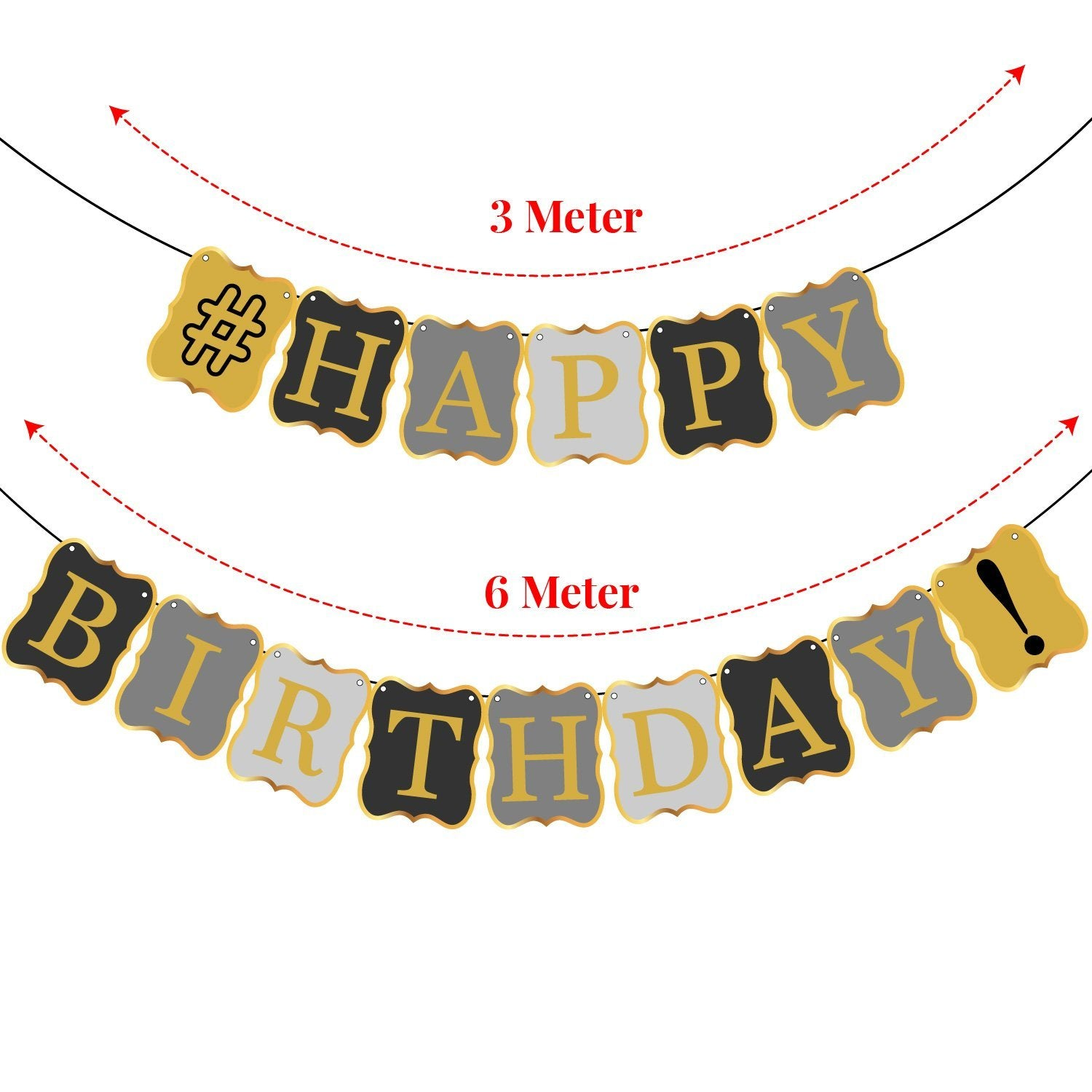 40th BIRTHDAY DECORATIONS BALLOONS BANNER Happy Birthday Black