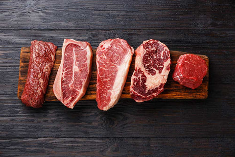 different types of meat