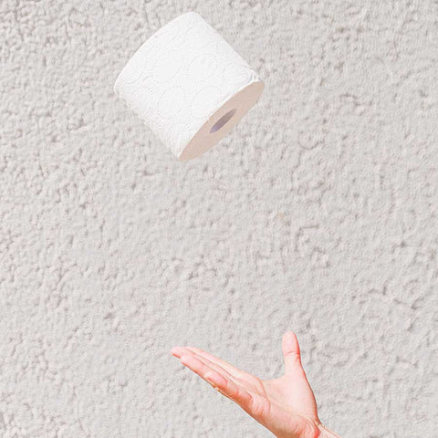 toilet paper thrown in the air