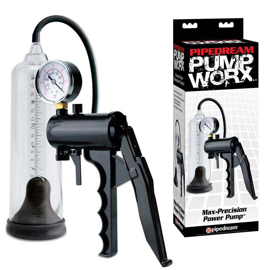 Max Precision Penis Pump & Gauge | Professional Male Enhancing Power Pump Kit Penis Pumps