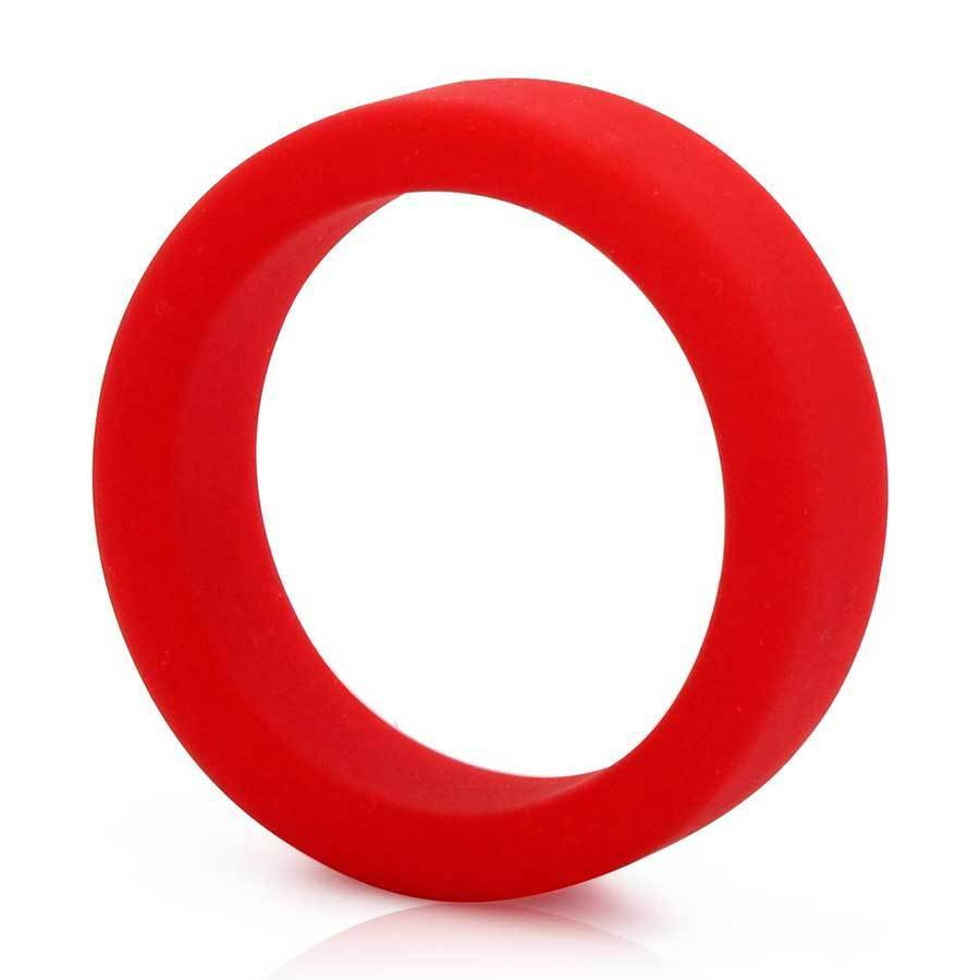 Tantus Silicone Cock Ring Super Soft C-Ring for Men Cock Rings Red