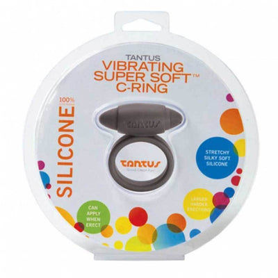 Tantus Silicone Vibrating Cock Ring Super Soft C-Ring for Men Cock Rings