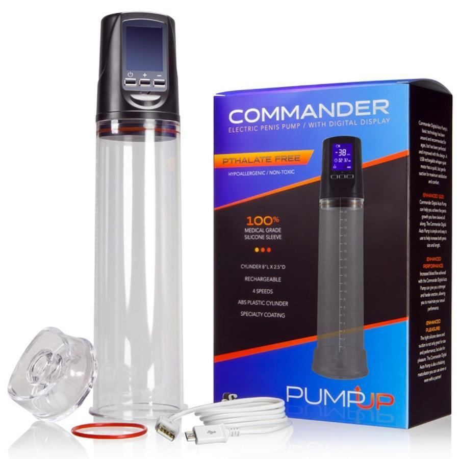 The Commander Cock Pump | Electric Penis Pump with LCD By SI Novelties