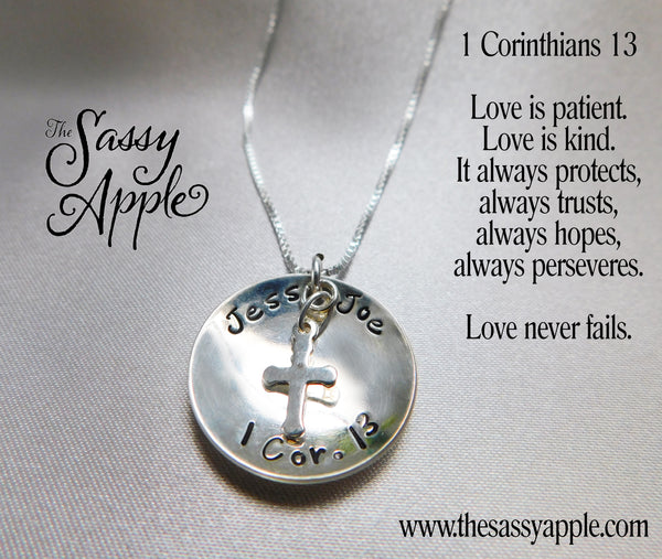 Love Never Fails Cupped Necklace