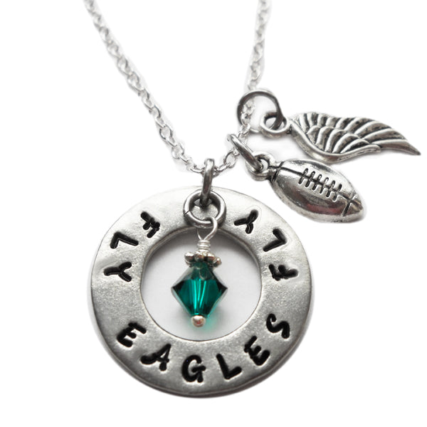 Fly Eagles Fly Round Necklace