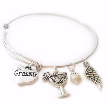 Four Charm Personalized Expandable Bangle