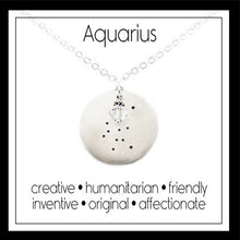 Load image into Gallery viewer, Aquarius Zodiac Constellation Necklace