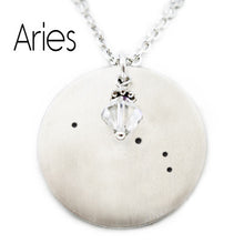 Load image into Gallery viewer, Aries Zodiac Constellation Necklace