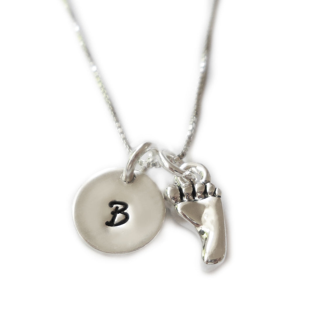 Baby Foot Sterling Silver Necklace
