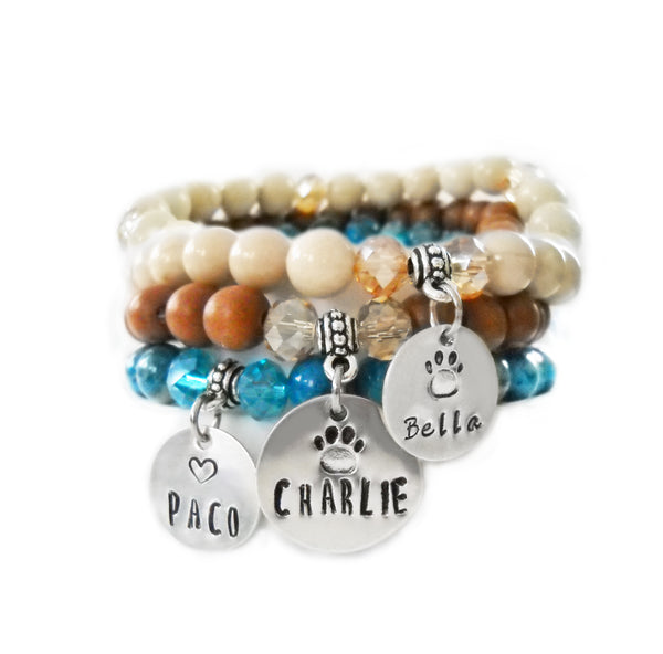Pet Name Beaded Bangles