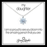 Daughter - One Word Carded Necklace