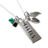 EAGLES Rectangle Tag Necklace