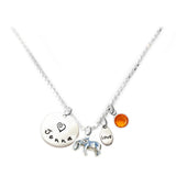 Personalized ELEPHANT Charm Necklace with Sterling Silver Name