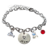 Personalized FUN FISHIE Sterling Silver Name Charm Bracelet