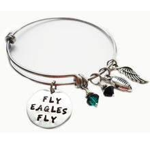 Load image into Gallery viewer, Fly Eagles Fly Expandable Bangle