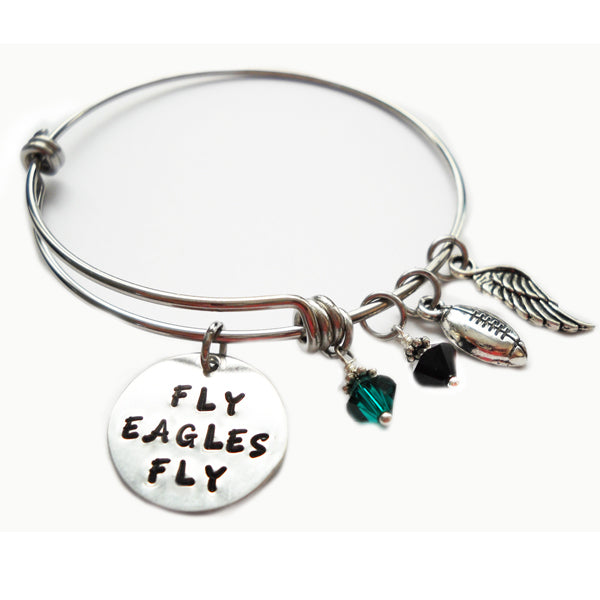 Fly Eagles Fly Expandable Bangle