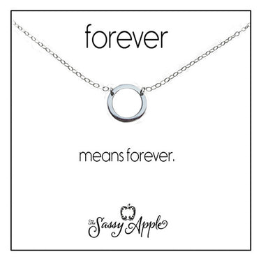 Forever - One Word Carded Necklace