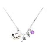 Personalized FROG Charm Necklace with Sterling Silver Name