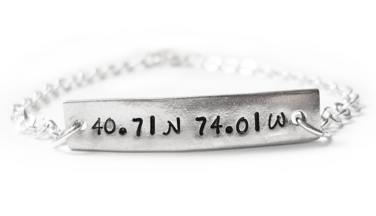 GPS Longitude and Latitude Bracelet