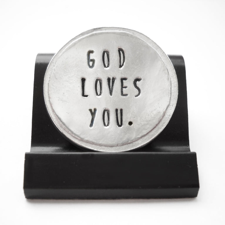 God Loves You Courage Coin