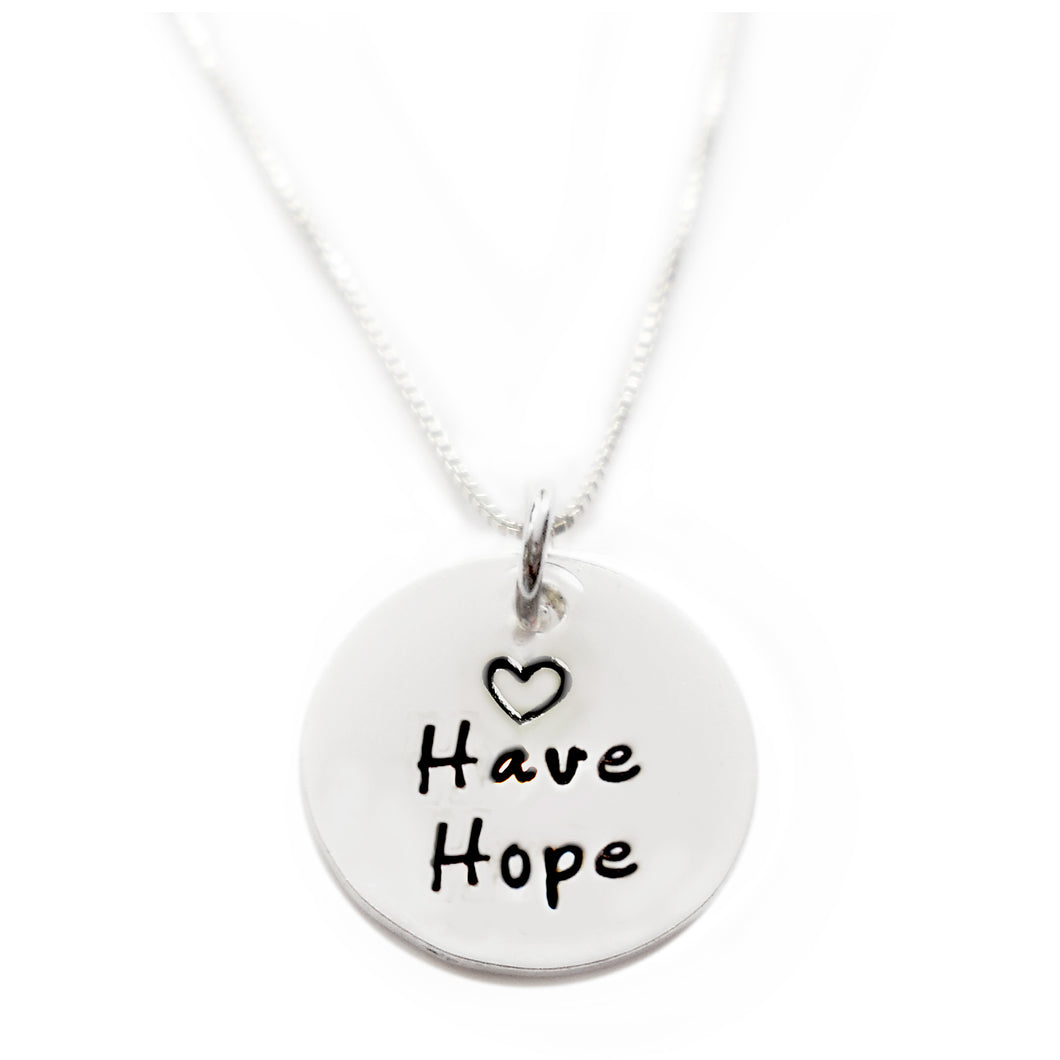 Have Hope Sterling Silver Necklace