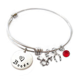 Personalized HORSE Bangle Bracelet with Sterling Silver Name