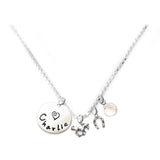 Personalized HORSE Charm Necklace with Sterling Silver Name