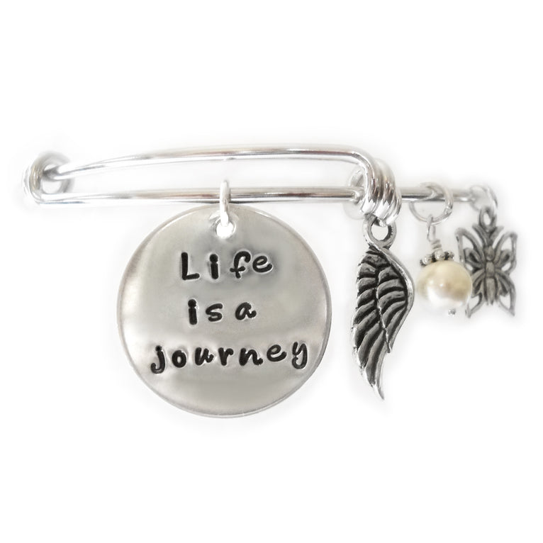 Life is a Journey Bangle Bracelet