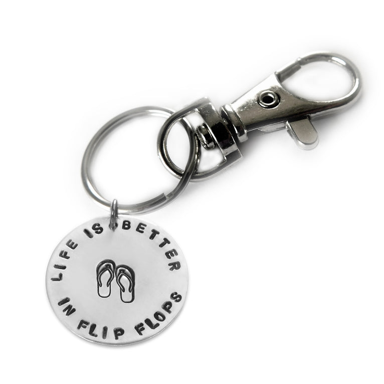 Life is Better Keychain - You choose the phrase!