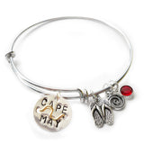 Cape May NJ Mini Beach Badge Bangle