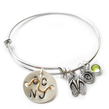 Ocean City NJ Mini Beach Badge Bangle