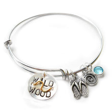Load image into Gallery viewer, Wildwood NJ Mini Beach Badge Bangle