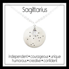 Load image into Gallery viewer, Sagittarius Zodiac Constellation Necklace