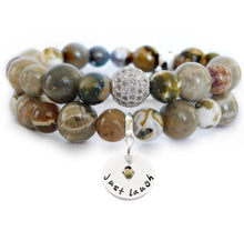 Load image into Gallery viewer, Fossil Coral & Ocean Jasper Beaded Beauty Bracelet