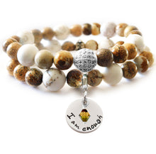 Load image into Gallery viewer, White Magnesite & Picture Jasper Beaded Beauty Bracelet