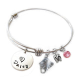 Personalized STINGRAY Bangle Bracelet with Sterling Silver Name