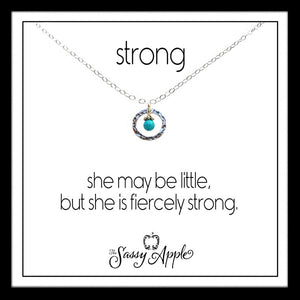 Strong - One Word Carded Necklace