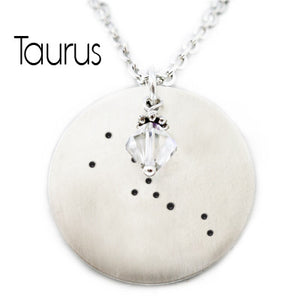 Taurus Zodiac Constellation Necklace