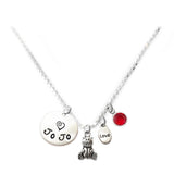 Personalized TEDDY BEAR Charm Necklace with Sterling Silver Name