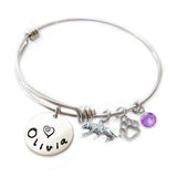 Personalized TIGER Bangle Bracelet with Sterling Silver Name